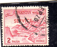 PAKISTAN 1961 1978 OFFICIAL STAMPS LANDSCAPE KHYBER PASS SERVICE OVERPRINTED 2p USED USATO OBLITERE - Pakistan