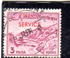 PAKISTAN 1961 1978 OFFICIAL STAMPS LANDSCAPE KHYBER PASS SERVICE OVERPRINTED 3p USED USATO OBLITERE - Pakistan
