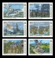 Alderney 2019 Mih. 631/36 World War II. D-Day. Ships. Planes. Tanks MNH ** - Alderney