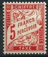 """FR Taxe YT 66 """" Type Duval  5F Rouge-orange """" 1941 Neuf** - 1859-1955 Nuovi"""