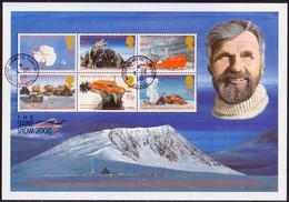 BRITISH ANTARCTIC TERRITORY 2000 SG 315a Sheetlet Used Incl. 315-320 Heroic Age Of Antarctica - Territoire Antarctique Britannique  (BAT)
