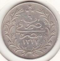 Empire Ottoman. 10 Qirsh AH 1327 Year 6. Muhammad V, En Argent. KM# 309 - Egypte
