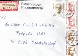 ! 4 Einschreiben 1992-93 Mit Alter Postleitzahl + DDR R-Zettel  Aus 2131 Prenzlau - [7] Federal Republic