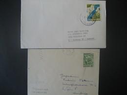 Jugoslawien- 2 Bedarfsbelege Aus 1965 Und 1953 - 1945-1992 République Fédérative Populaire De Yougoslavie