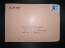 LETTRE TP PREO POISSONS 0,54 + PHARMACIE DE L'ABBAYE DE PRADINES (42 REGNY) - Other