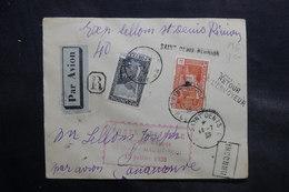 RÉUNION - Enveloppe Du Voyage D'étude Par Avion De Saint Denis Pour Tananarive En 1938, Affr. Plaisant - L 36515 - Réunion (1852-1975)