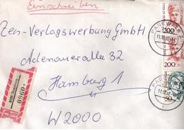 ! 1 Einschreiben 1992  Mit Alter Postleitzahl + DDR R-Zettel  Aus 2151 Strasburg, Stempel Pasewalk - [7] Federal Republic