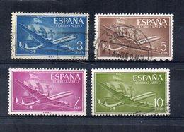 Spagna - 1956 - Posta Aerea - 4 Valori - 3 Usati E 1 Nuovo - (FDC16252) - 1931-Oggi: 2. Rep. - ... Juan Carlos I