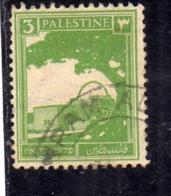 PALESTINE PALESTINA 1927 1942 RACHEL'S TOMB 3m USATO USED OBLITERE' - Palestina