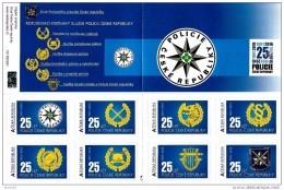 2016 Carnet De 8 Timbres Différents Pour Les 25 Ans De La Police Tchèque - Neufs