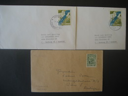 Jugoslawien- 3 Bedarfsbelege Aus 1965 Nach Hamburg Und 1953 Nach Wien - 1945-1992 Socialist Federal Republic Of Yugoslavia