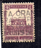 PALESTINE PALESTINA 1927 1942 MOSQUE OF OMAR DOME OF THE ROCK 4m USATO USED OBLITERE' - Palestina