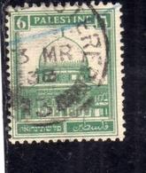 PALESTINE PALESTINA 1927 1942 MOSQUE OF OMAR DOME OF THE ROCK 6m USATO USED OBLITERE' - Palestina