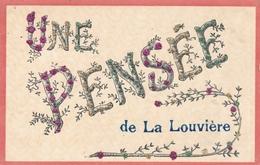 Glitzer Cp La Louvière Wallonien Hennegau, Une Pensée - Other
