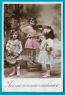 Carte Ancienne Enfants Jouant Du Tambour Trompette Et Violon Adressée à La Chapelle Aux Bois à Un Instituteur - Szenen & Landschaften