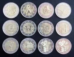 12 Monnaies Commératives De 2 € (2004 - 2018) - Münzen & Banknoten