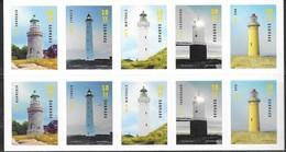 DENMARK , 2019, MNH,LIGHTHOUSES, BOOKLET OF 10v - Lighthouses