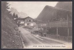 CPA  Suisse, MEIRINGEN,  Hotel & Pension Kaltbrunnen-Säge, 1907 - BE Berne