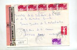 Lettre Recommandée Farebersviller Sur Gandon - Marcophilie (Lettres)