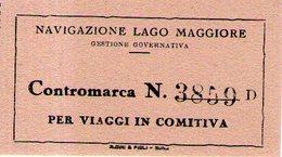 B 2582 - Navigazione Lago Maggiore - Carte D'imbarco Di Navi