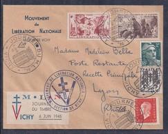 Enveloppe Locale Journée Du Timbre 1945 Du Mln Vichy Vignette - Liberation