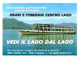 B 2583 - Navigazione Lago Maggiore, Orari 1978, Mobil - Europe