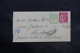LUXEMBOURG - Taxe Sur Enveloppe De France - L 36536 - Covers & Documents