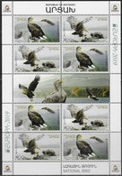 NAGORNO KARABAKH, REPUBLIC OF ARTSAKH , 2019, MNH, EUROPA, BIRDS, BIRDS OF PREY, SHEETLET OF 4v - 2019