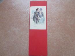 1925 Illustratore BOMPARD  COPPIA Fondo ROSSO - Coppie
