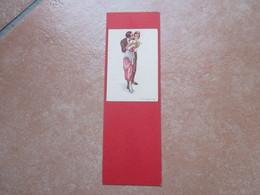 Illustratore BOMPARD  Fondo ROSSO Coppia Elegante Papillon - Coppie