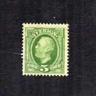 Svezia - 1891 - 5 Ore - Nuovo - (FDC16256) - Neufs