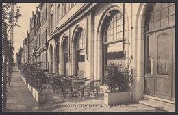 CPA -  BELGIQUE ,  YPRES /  LEPER,  Hotel Continental,  Terrasse - Ieper