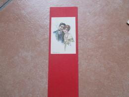 Illustratore BOMPARD Coppia Woman Man Pipa Scritta Al  Verso - Coppie