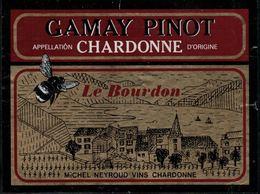 Etiquette De Vin // Gamay-Pinot De Chardonne, Le Bourdon - Etiquetas