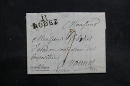 FRANCE - Lettre De Rodez Pour Vannes En 1816 - L 36546 - Marcophilie (Lettres)