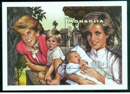 Mongolia 1997 - Lady Diana Miniature Sheet Mnh - Mongolia