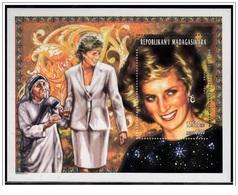 Madagascar 1998 - Lady Diana Miniature Sheet Mnh - Madagascar (1960-...)