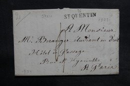 FRANCE - Lettre De Saint Quentin Pour Paris En 1823 - L 36553 - Marcophilie (Lettres)