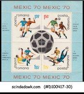 ROMANIA - 1970 WORLD CUP FOOTBALL / SOCCER MEXICO '70 - MIN/SHT MNH - 1948-.... Republics