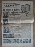 Krant Volksgazet Overwinningsnummer 8 Mei 1945 Einde Oorlog 8 Pagina's - Olandesi