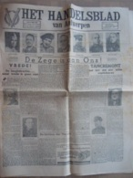 Krant Het Handelsblad Van Antwerpen 9-10-11 Mei 1945 Einde Oorlog 6 Pagina's - Revues & Journaux