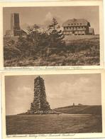 TWO POSTCARDS FELDBERG - OBSERVATION TOWER AND BISMARK MEMORIAL - BADEN-WURTTEMBERG - Feldberg