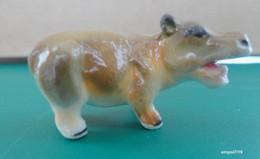 HIPPOPOTAME Miniature En Porcelaine - Animaux