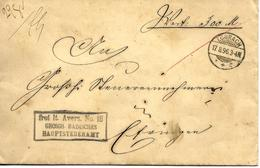 Contre Remboursement De Lorrach Vers Efringen 1900 Nachnahme Voir 2 Scan - Deutschland