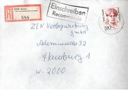 ! 1 Einschreiben 1992 Mit Alter Postleitzahl + DDR R-Zettel  Aus 2722 Brüel, Mecklenburg - [7] République Fédérale