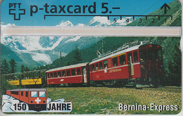 SUISSE - PHONE CARD - TAXCARD-PRIVÉE *** TRAIN - ZUG - 150 ANS / 3A *** - Suisse