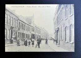 Postkaart Wevelghem Statie Straat - Rue De La Gara - Wevelgem