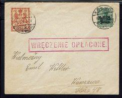 Pologne - Guerre 14-18 - Occupation Allemande - N° 2 Surch. Ruffitch Boten + 3 (Poste Locale) De Warzawa En Ville - B/TB - Storia Postale