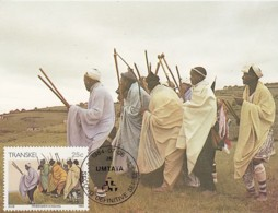 Transkei - Maximum Card Of 1984 - MiNr. 150 - Culture Of The Xhosa - Tribesmen Singing - Transkei