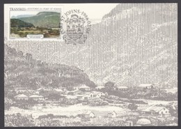 Transkei - Maximum Card Of 1986 - MiNr. 183 - Old Views Of Port St. Johns - The City At The End - Transkei
